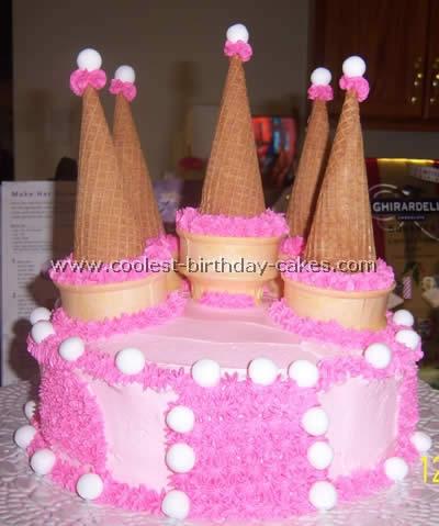 Super Coolest Disney Princess Castle Cake Photos Personalised Birthday Cards Petedlily Jamesorg