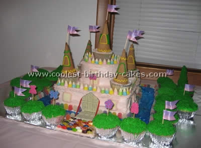 Cool Coolest Disney Princess Castle Cake Photos Personalised Birthday Cards Petedlily Jamesorg