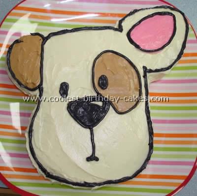 Idea dog cake template or dog cake template coolest dog cakes cute.
