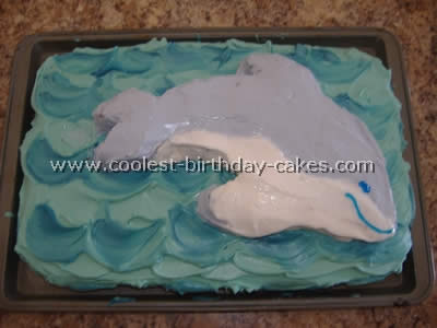 Dolphin Picture Birthday Cake