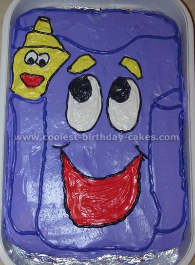 Dora Backpack and Map Birthday Cake Photo