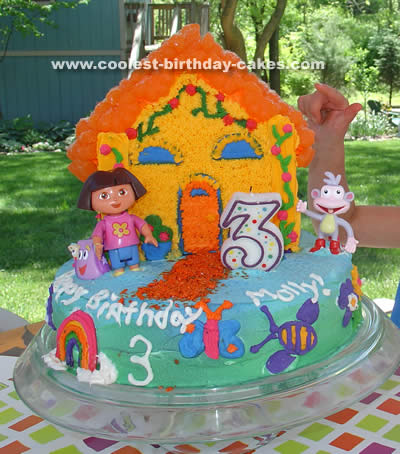 Brilliant Coolest Dora Birthday Cake Photos And How To Tips Funny Birthday Cards Online Alyptdamsfinfo