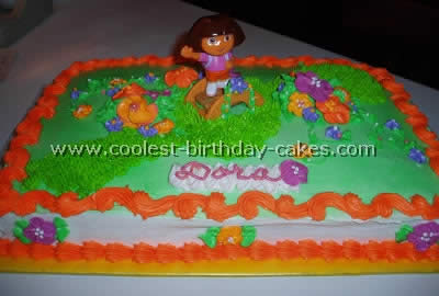 Cool Coolest Dora Birthday Cakes Personalised Birthday Cards Xaembasilily Jamesorg