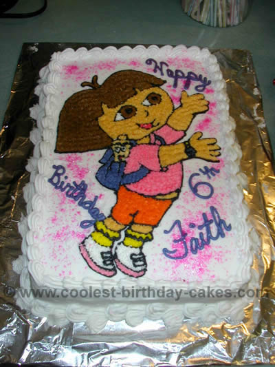 Prime Coolest Dora The Explorer Cake Ideas And Dora Cake Inspiration Personalised Birthday Cards Veneteletsinfo
