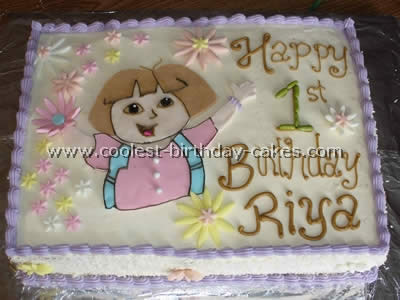 Superb Coolest Dora The Explorer Birthday Cake Photos And Tips Birthday Cards Printable Benkemecafe Filternl