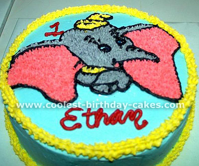 Astounding Coolest Dumbo Cakes On The Webs Largest Homemade Birthday Cake Birthday Cards Printable Trancafe Filternl