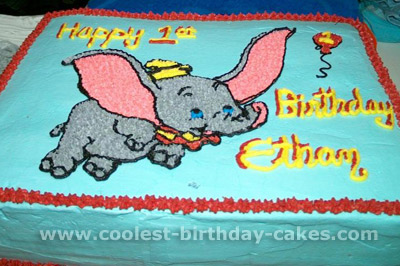 Super Coolest Dumbo Cakes On The Webs Largest Homemade Birthday Cake Birthday Cards Printable Trancafe Filternl