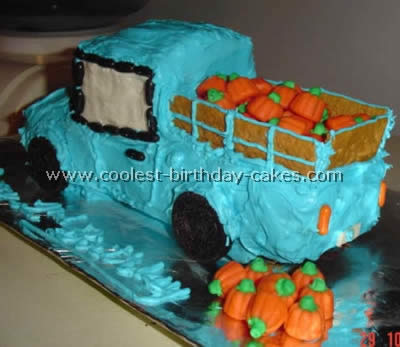 Pickup Shaped Easy Cake Recipe