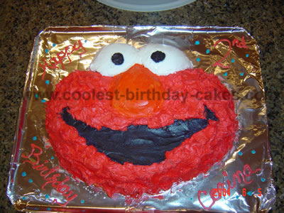 Elmo Birthday Cake Photo