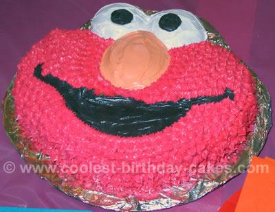 Elmo Birthday Cake Photo