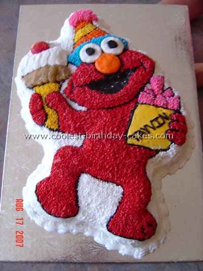 Enjoyable Coolest Elmo Birthday Cakes Personalised Birthday Cards Paralily Jamesorg