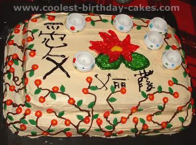 Cool Oriental Theme Fancy Birthday Cakes