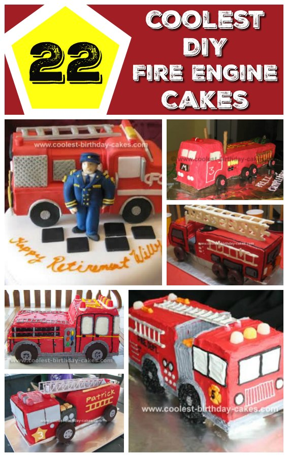 fire-engine-birthday-cake-collage