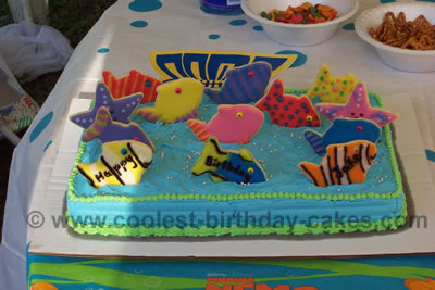 Enjoyable Coolest Fish Birthday Cake Ideas Cake Decorating Inspiration For Birthday Cards Printable Trancafe Filternl