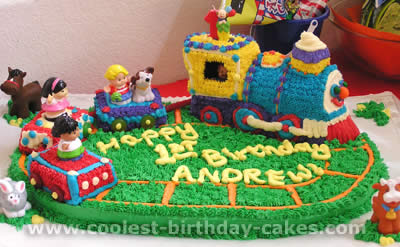 Tremendous Coolest Fisher Price Little People Homemade Birthday Cakes Personalised Birthday Cards Beptaeletsinfo