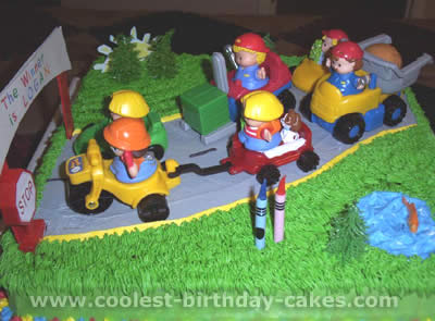 Super Coolest Fisher Price Little People Homemade Birthday Cakes Personalised Birthday Cards Beptaeletsinfo