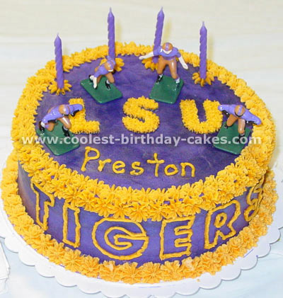 Excellent Coolest Football Cake Photos And Amazing How To Tips Personalised Birthday Cards Veneteletsinfo