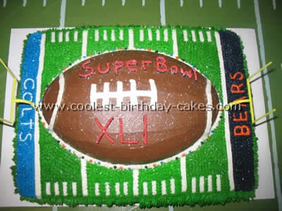Super Coolest Football Cake Photos And Amazing How To Tips Birthday Cards Printable Giouspongecafe Filternl