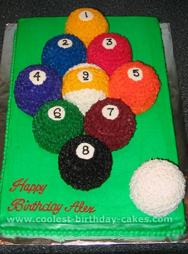 Fabulous Coolest Homemade Billiards Cakes Funny Birthday Cards Online Elaedamsfinfo