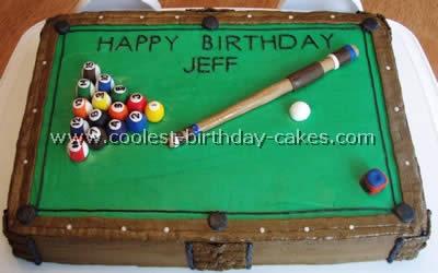 Peachy Coolest Homemade Billiards Cakes Personalised Birthday Cards Akebfashionlily Jamesorg