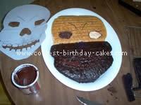 Skull Cake - Free Cake Decorating Idea