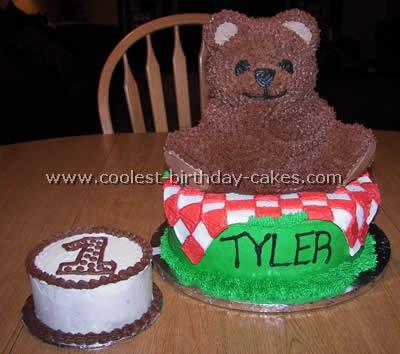 Stupendous Coolest Teddy Bear Cakes And Free Cake Decorating Ideas Personalised Birthday Cards Veneteletsinfo