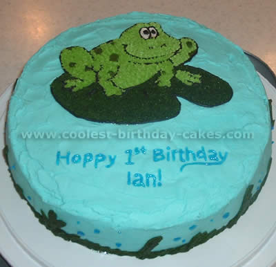 Frog Birthday Cake Pictures