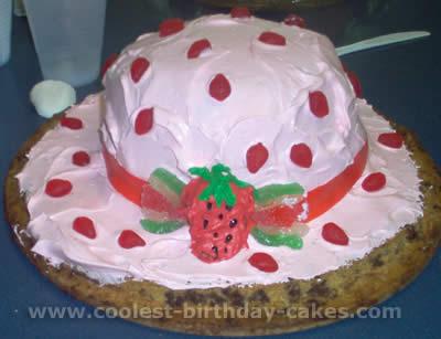 Fun Cake Design Idea For Strawberry Shortcakes Hat