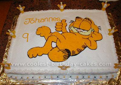 Sensational Coolest Garfield Cakes On The Webs Largest Homemade Birthday Cake Personalised Birthday Cards Veneteletsinfo