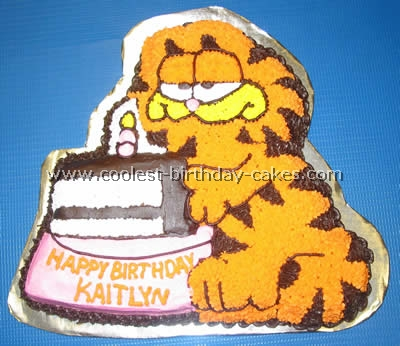 Coolest Garfield Cakes On The Webs Largest Homemade Birthday Cake