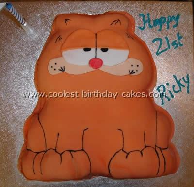 Peachy Coolest Garfield Cakes On The Webs Largest Homemade Birthday Cake Personalised Birthday Cards Veneteletsinfo