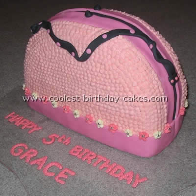 Purse Shaped Girls Birthday Cake