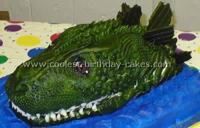 Godzilla Cake Photo