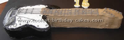 Coolest Guitar Birthday Cake Ideas