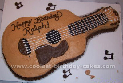 Wondrous 250 Coolest Homemade Guitar Shaped Birthday Cakes Funny Birthday Cards Online Barepcheapnameinfo