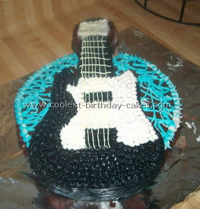 Terrific Awesome Guitar Cake Designs To Make The Coolest Ever Guitar Cakes Funny Birthday Cards Online Elaedamsfinfo