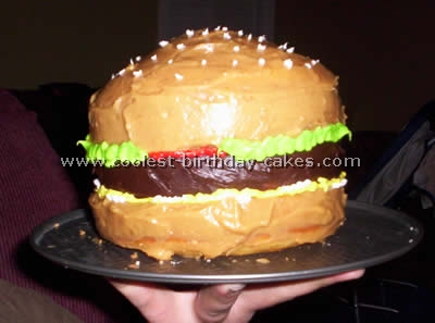 Terrific Coolest Hamburger Cake Photos And How To Tips Funny Birthday Cards Online Inifofree Goldxyz