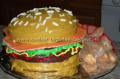 Amazing Coolest Hamburger Cakes And How To Tips Birthday Cards Printable Trancafe Filternl