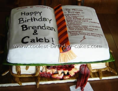 Homemade Monster Book Cake