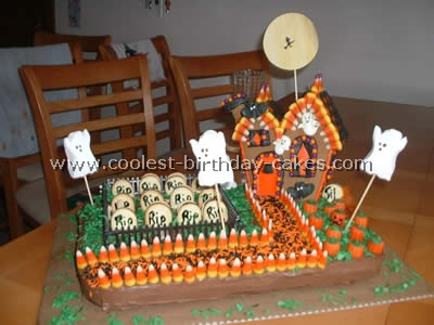 Astonishing Coolest Haunted House Cake Ideas Photos And How To Tips Personalised Birthday Cards Epsylily Jamesorg