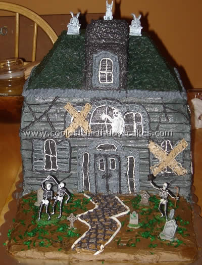 Remarkable Coolest Haunted House Cake Ideas Photos And How To Tips Personalised Birthday Cards Epsylily Jamesorg