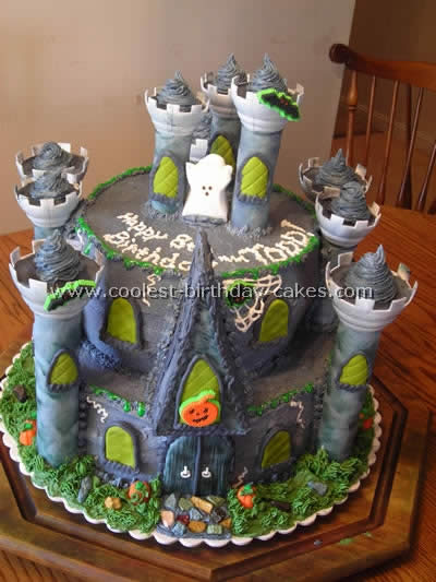 Superb Coolest Haunted House Cake Ideas Photos And How To Tips Personalised Birthday Cards Epsylily Jamesorg