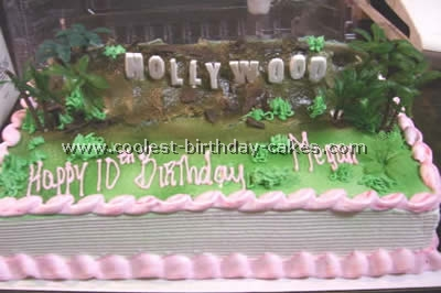 Fantastic Coolest At The Movies Hollywood Cake Ideas Funny Birthday Cards Online Overcheapnameinfo