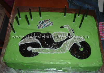 Motorcycle Homemade Birthday Cake