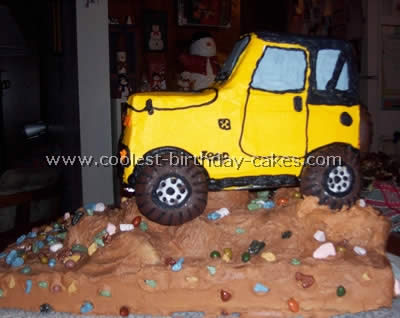 Jeep Cake - Homemade Birthday Cakes