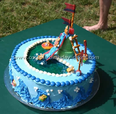Miraculous Coolest Pool And Jello Cake Recipe Ideas For A Splashy Party Funny Birthday Cards Online Alyptdamsfinfo