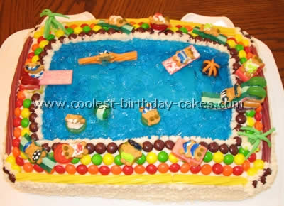 Fine Coolest Pool And Jello Cake Recipe Ideas For A Splashy Party Funny Birthday Cards Online Alyptdamsfinfo