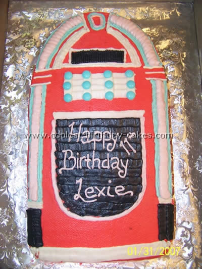 Jukebox Cake Photo