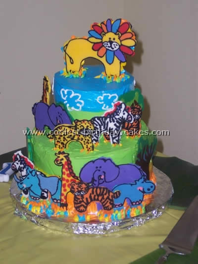 Magnificent Coolest Safari And Jungle Cake Ideas And Photos Funny Birthday Cards Online Elaedamsfinfo