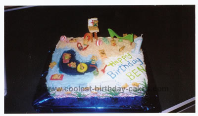 Amazing Coolest Homemade Beach Scene Cakes Funny Birthday Cards Online Eattedamsfinfo